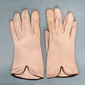 Vintage Deer Skin Perforated Driving Gloves